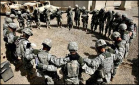 Soldiers pray at military base; Cruz, Lee Fight for Religious Freedom for Military Service Members