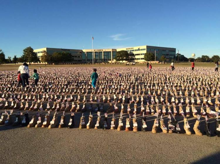 Fort Hood Boot Memorial (Snapshot credit, FB)