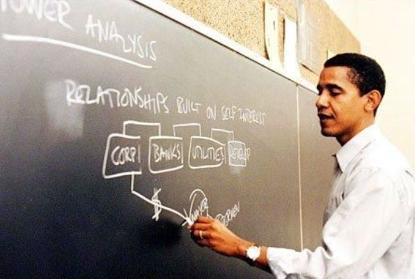 "Obama taught ""father of community organizing"" Saul Alinsky's ""Rules for Radicals"" (Screenshot Credit, WND)"