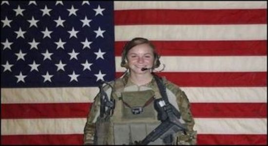 1st Lt. Ashley White Stumpf who was killed during combat operations in Kandahar Province, Afghanistan on October 22, 2011. (Courtesy the White family) (Screenshot credit, Fox News)