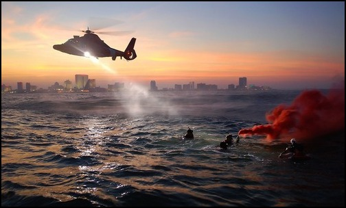 Helicopter, Coast Guard, Rescue Training, Exercise, Sea. (Photo: Public Domain)
