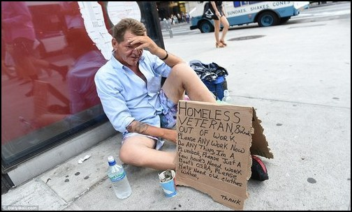 Veterans hungry and homeless. (Photo: Public Domain)