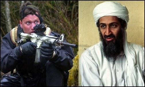 Former Navy SEAL, Matthew Bissonnette; Osama bin Laden (Photo: Public Domain)
