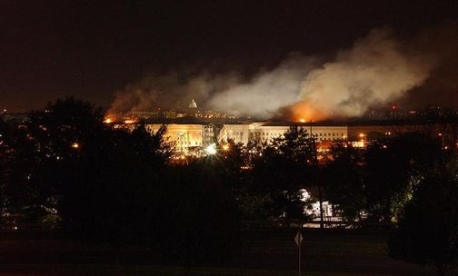 Pentagon Building showing smoke rising from the building after the 9/11 attack.(Photo: Public Domain)