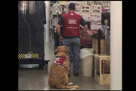 Air Force veteran, Clay Luthy, with service dog, Charlotte. (Photo: Facebook snapshot)